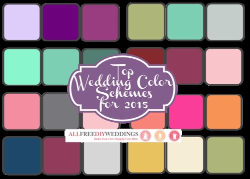 Top Wedding Color Schemes of 2015