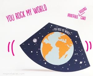 photograph regarding You Rock Valentine Printable known as Your self Rock My World-wide Printable Valentine