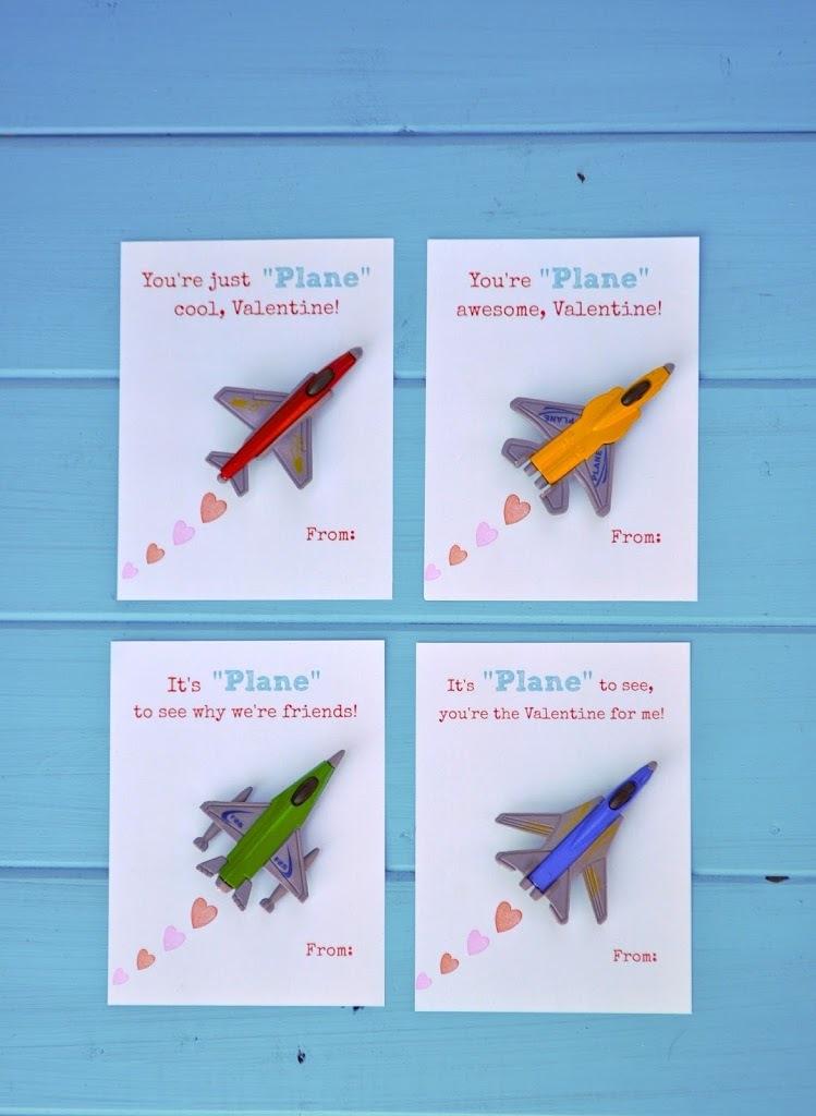Free Printable Toy Plane Valentines Allfreepapercrafts Com