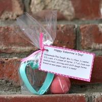 Homemade Playdough Valentine Kit