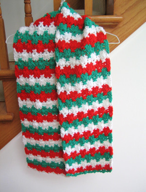 Holiday Criss Cross Crocheted Scarf Pattern