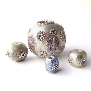 Make Your Own Metallic Clay Beads