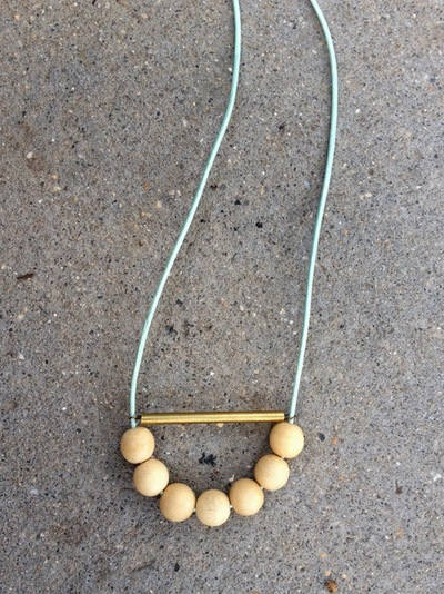 Adorable Beaded Tube Necklace