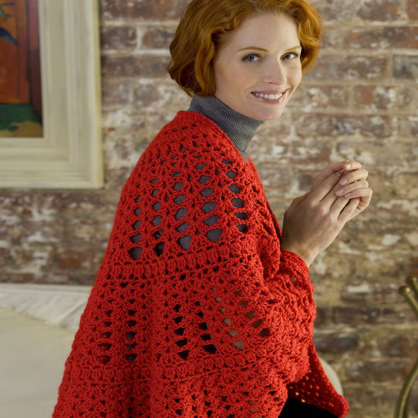 Cherry Hearts Prayer Shawl