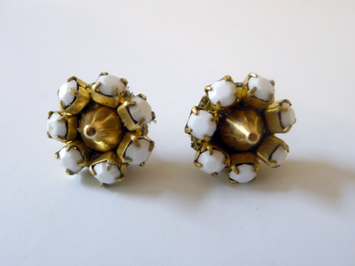Punky Vintage Rhinestone Earrings