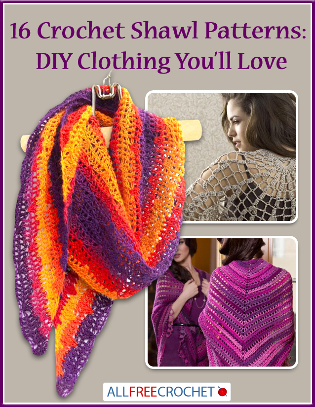 16 Simple Hairstyles For Long Hair: 16 Crochet Shawl Patterns: DIY Clothing You'll Love
