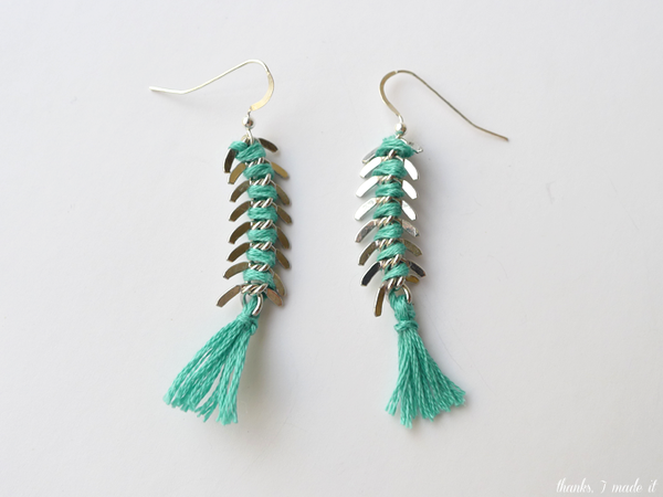 Unique Tasseled Fishbone Earrings