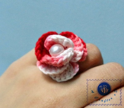 Wild Rose Stitched Ring