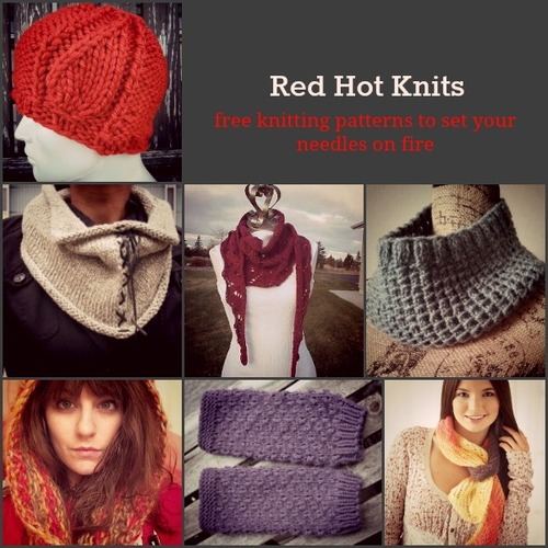 Red Hot Knits: 17 Free Knitting Patterns to Set Your Needles on Fire