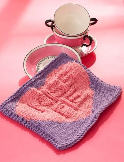 Kiss Me Candy Dishcloth