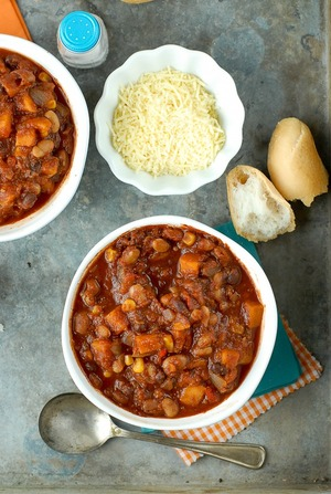 Slow Cooker 3-Bean Winter Chili