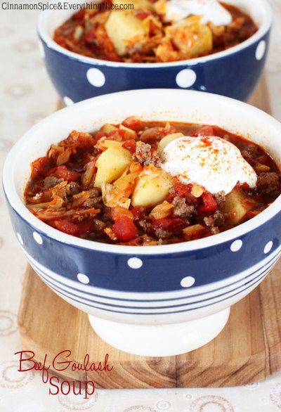 My Husbands Favorite Beef Goulash Soup