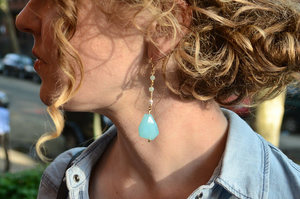 Stunning Aquamarine Drop Earrings