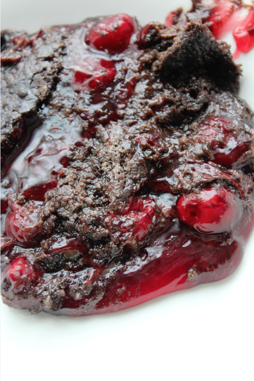 3-Ingredient Chocolate Cherry Dump Cake