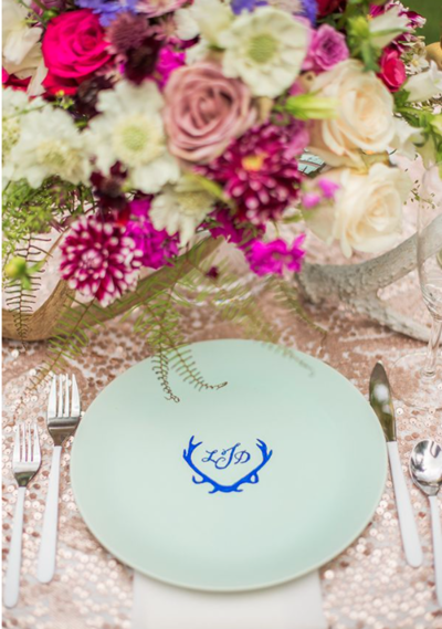 Quick and Easy Monogrammed Plates