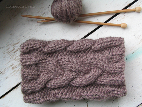 Homespun Cabled Boot Cuffs