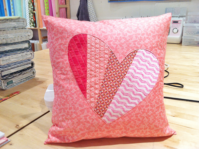 Patchwork Love DIY Pillow