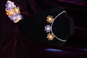 Dainty Mini Flower Loom Jewelry Set