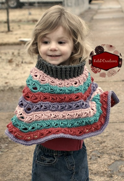 Customizable Broomstick Lace Poncho