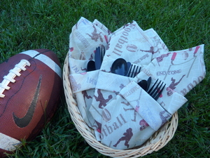 Big Game Free Napkin Pattern