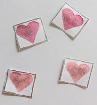 Sparkling Hearts Valentine's Day Card