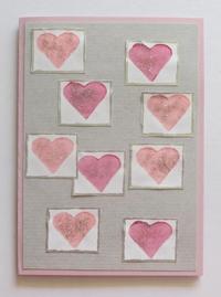 Sparkling Hearts Valentines Card