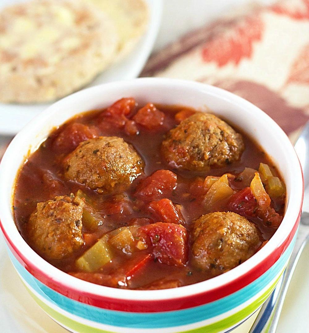 All-Day Italian Meatball Soup | AllFreeSlowCookerRecipes.com