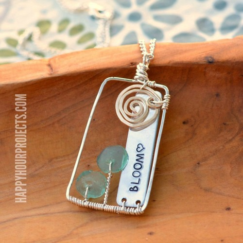 Bloom Wire Wrapped Pendant