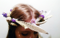 Wildflower and Feathers DIY Flower Crown