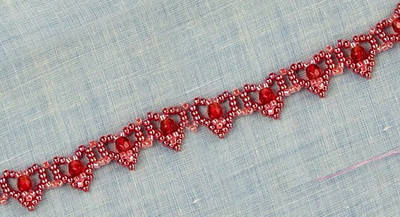 Lovely Beaded Hearts Bracelet