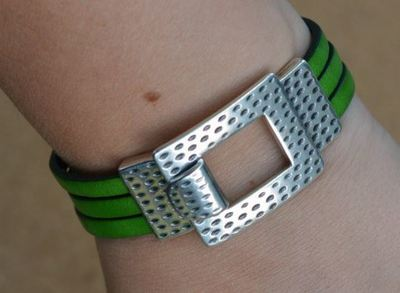 Fast Flat Leather Bracelet