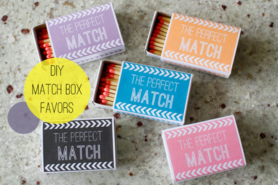 The Perfect Match Party Favors