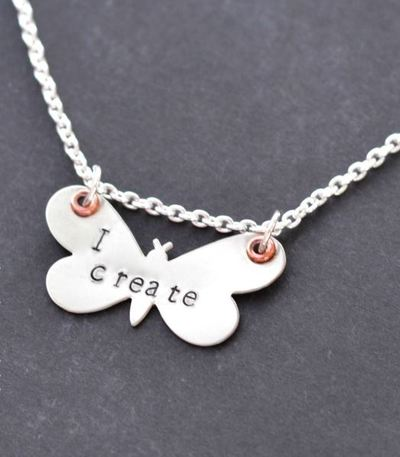 Sweet Metal Butterfly Necklace