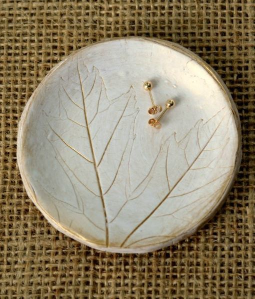 Lavish Leaf Jewelry Dish