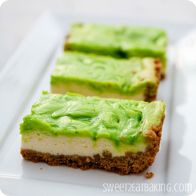 Tropical Key Lime Cheesecake Bars