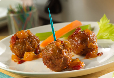 Easy Tropical Party Meatballs