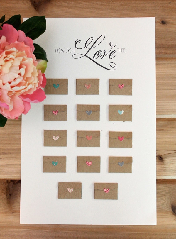 Diy Calendar For Him : Valentine s day advent calendar allfreediyweddings