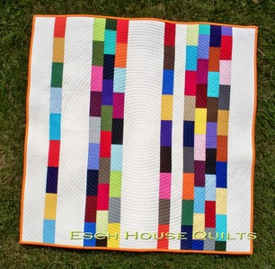 American Notebook Scrapbuster Strip Quilt