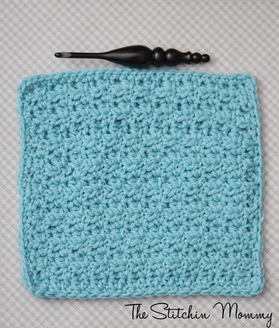 Half Double V-Stitch Square