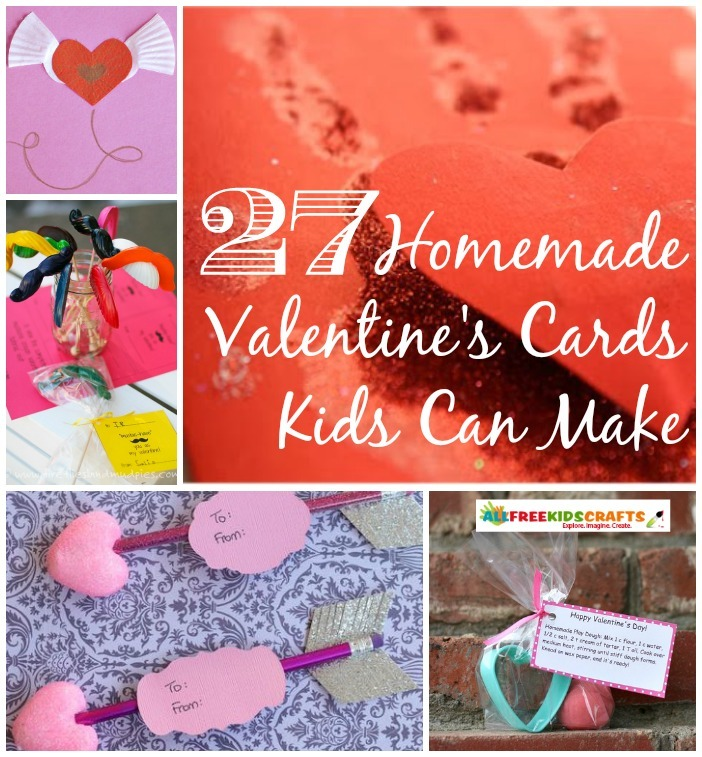 27 Homemade Valentines Cards Kids Can Make – Homemade Valentines Day Cards Kids