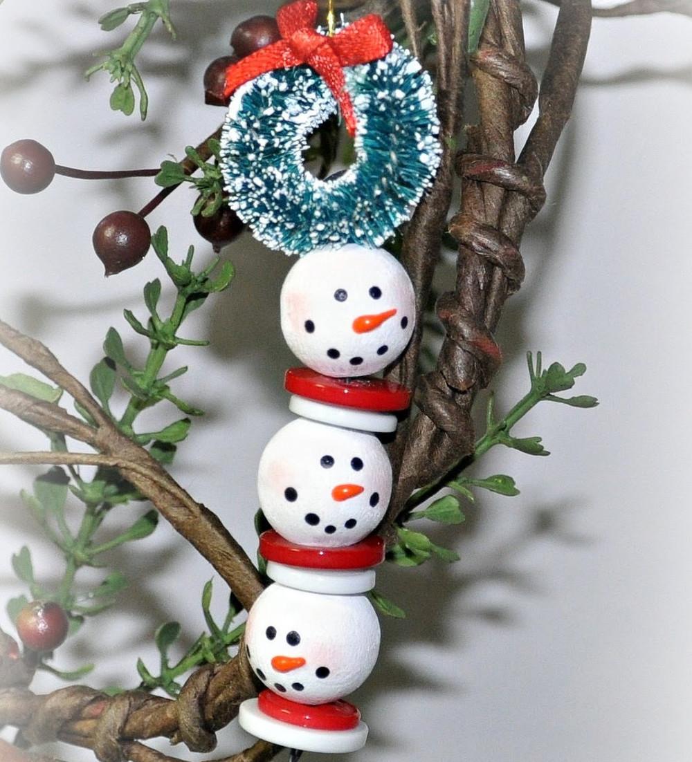 Beaded snowman strand allfreechristmascrafts