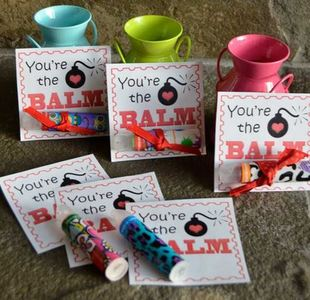image relating to You Re the Balm Printable titled Youre the Balm Cost-free Printable Valentines