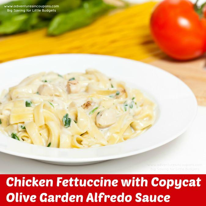 Copycat Olive Garden Chicken Fettuccine Alfredo