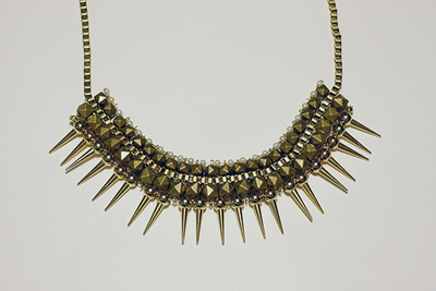 Studded Spiked Choker Necklace