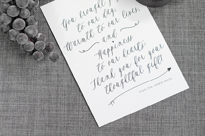 Gorgeous Script Thank You Printable