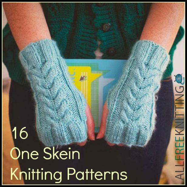 One Skein Knitting Patterns Free : 16 One Skein Knitting Patterns AllFreeKnitting.com