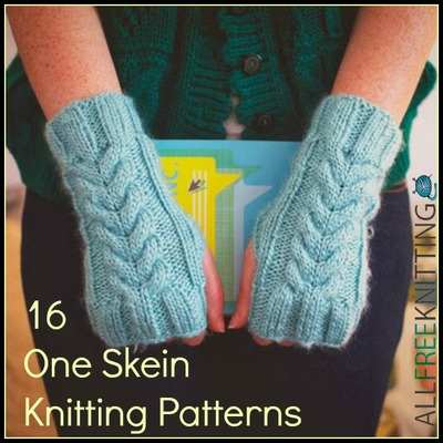 16 One Skein Knitting Patterns | AllFreeKnitting.com