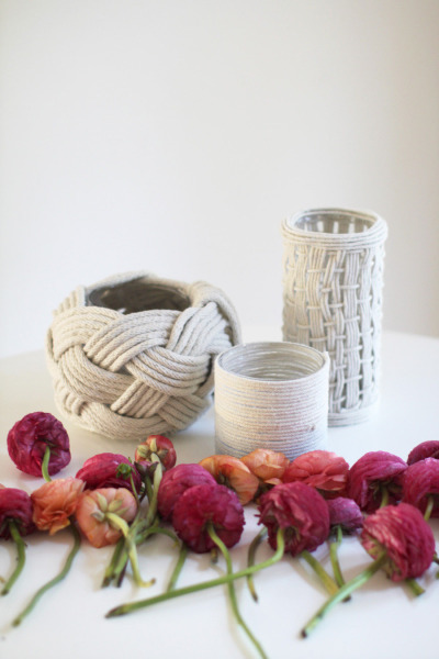 Coastal Rope Vases