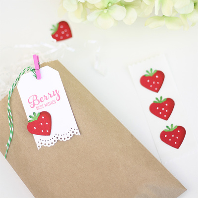 Berry Cute Quick Strawberry Embellishments