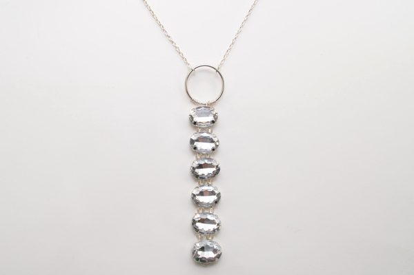 Falling Crystal Necklace